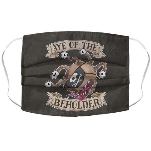 Aye Of The Beholder Accordion Face Mask