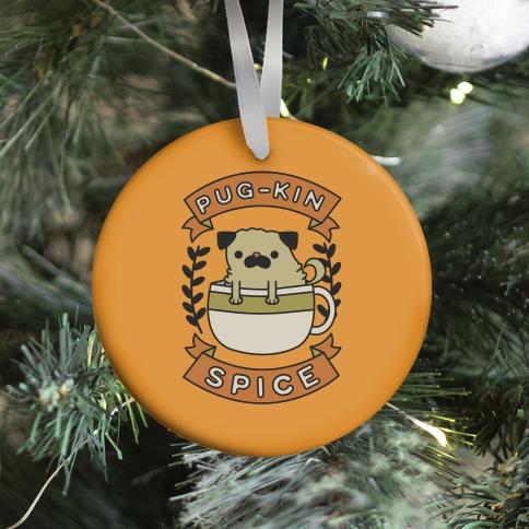 Pugkin Spice Ornament
