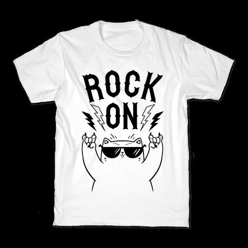Rock On Cat Kids T-Shirt