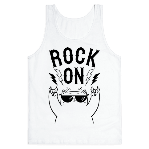 Rock On Cat Tank Top