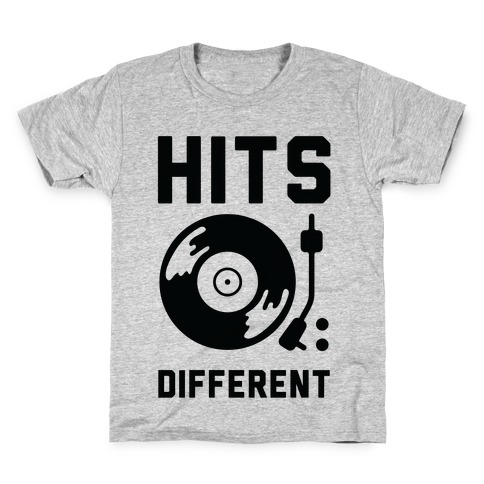 Hits Different Vinyl Record Kids T-Shirt