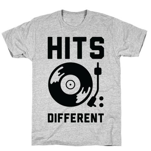 Hits Different Vinyl Record T-Shirt