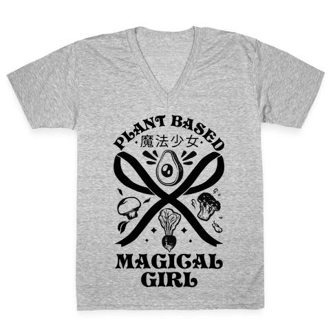 Plant Based Magical Girl V-Neck Tee Shirt