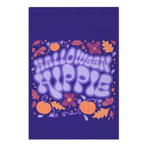 Halloween Hippie Garden Flag