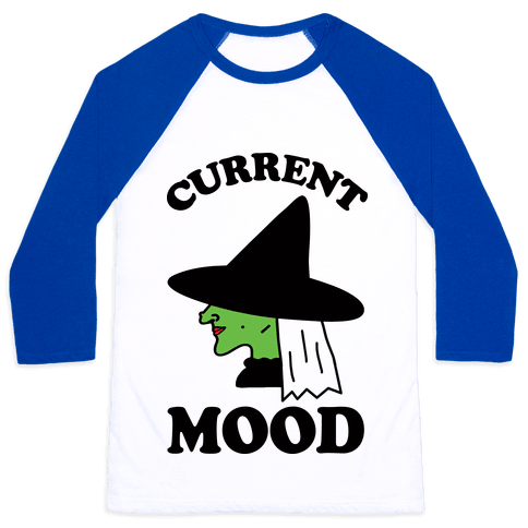 Current Mood Witch Baseball Tee