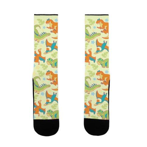 Funky Dinosaur Friends Sock