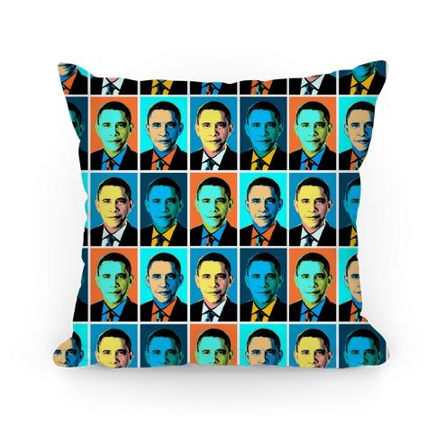 Pop Art Obama Pillow
