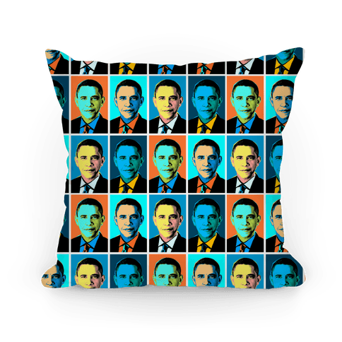 Pop Art Obama Pillow