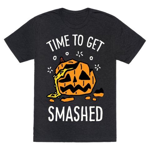 Time To Get Smashed Pumpkin Mens T-Shirt