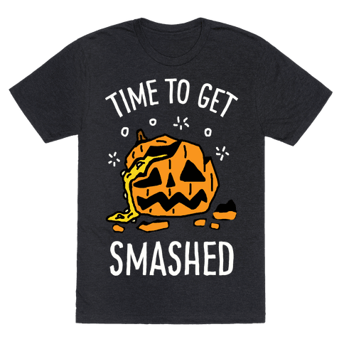 Time To Get Smashed Pumpkin Mens T-Shirt