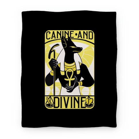 Canine and Divine - Anubis Blanket