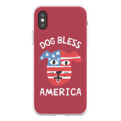 Dog Bless America Phone Flexi-Case