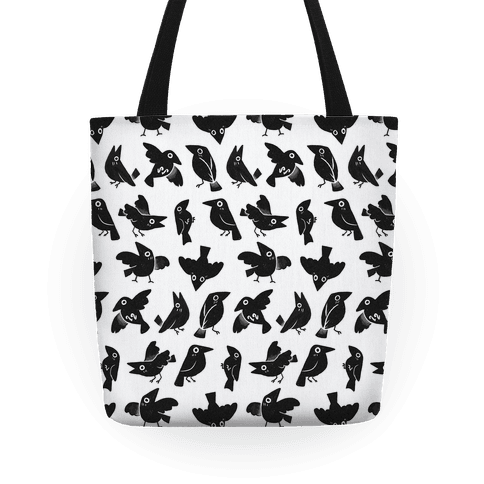 Cute Crow Pattern Tote