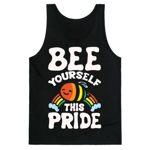 Bee Yourself This Pride White Print Tank Top