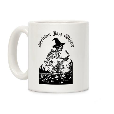 Skeleton Jazz Wizard Coffee Mug