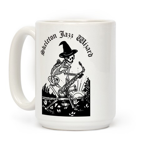 Skeleton Jazz Wizard Coffee Mug