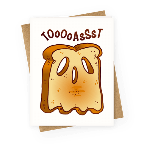 Toast Ghost Greeting Card