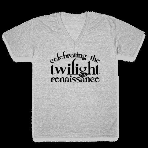 Celebrating The Twilight Renaissance Parody V-Neck Tee Shirt