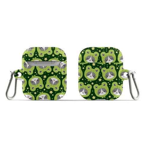 Frog Hat Cat AirPod Case