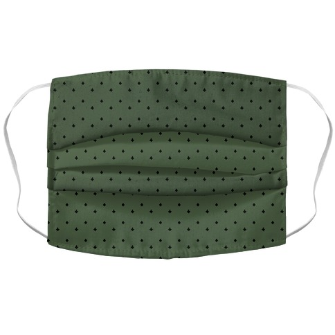 Dainty Stars Pattern Chive Green Accordion Face Mask