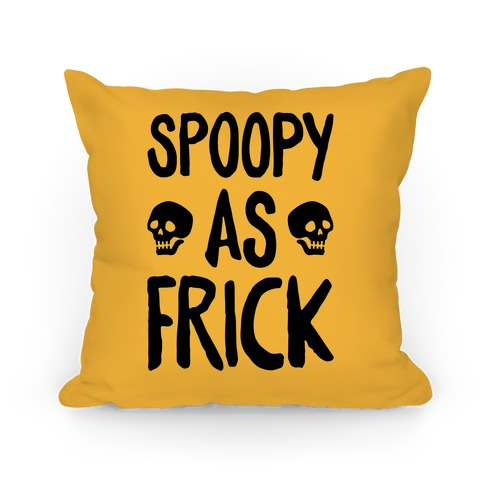 Spoopy As Frick Pillow