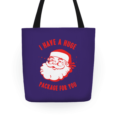 I Have A Huge Package For You Santa Tote