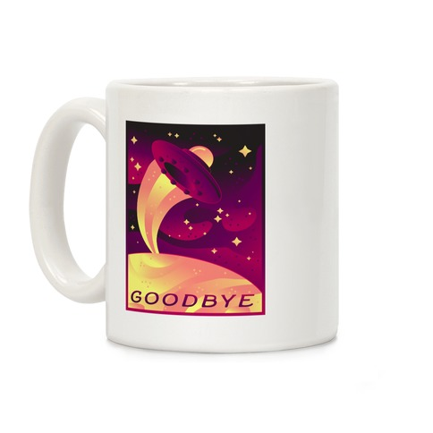 Goodbye Earth Travel Poster Coffee Mug