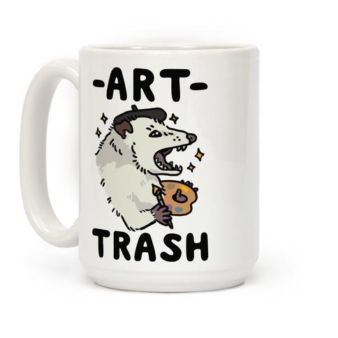 Art Trash Possum Coffee Mug
