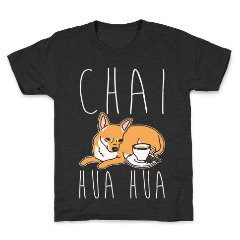Chai Hua Hua Chihuahua Parody White Print Kids T-Shirt