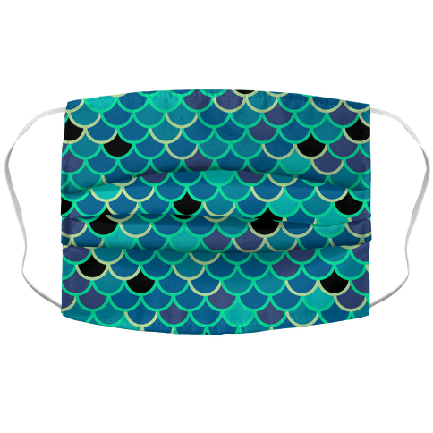 Mermy Scales Face Mask Cover