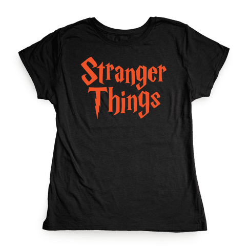 Stranger Harry Things Potter Womens T-Shirt