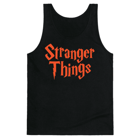 Stranger Harry Things Potter Tank Top