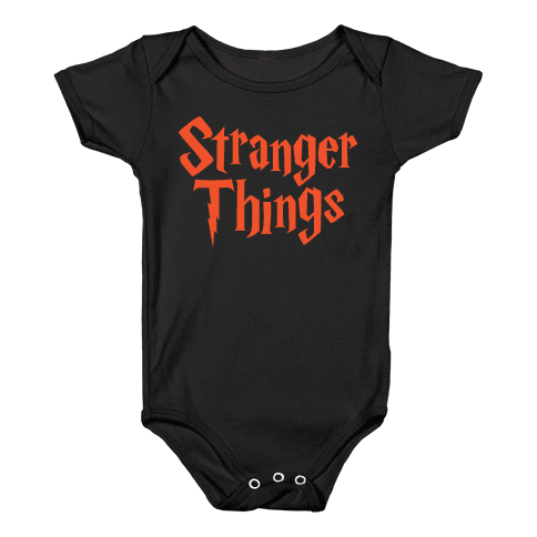 Stranger Harry Things Potter Baby Onesy