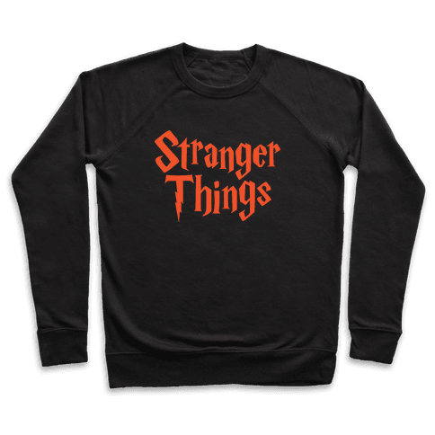 Stranger Harry Things Potter Pullover