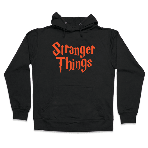 Stranger Harry Things Potter Hooded Sweatshirt