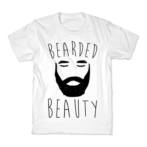 Bearded Beauty Kids T-Shirt