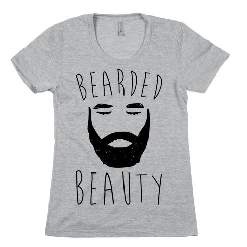 Bearded Beauty Womens T-Shirt