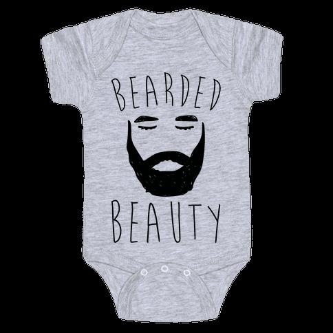 Bearded Beauty  Baby Onesy