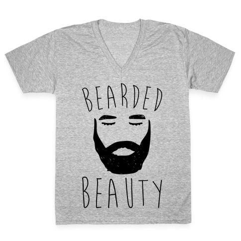 Bearded Beauty V-Neck Tee Shirt