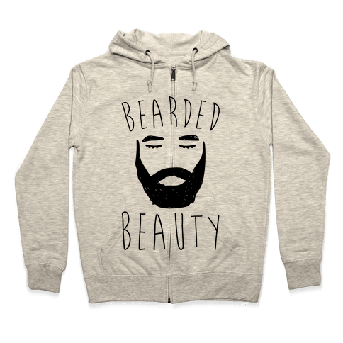 Bearded Beauty  Zip Hoodie