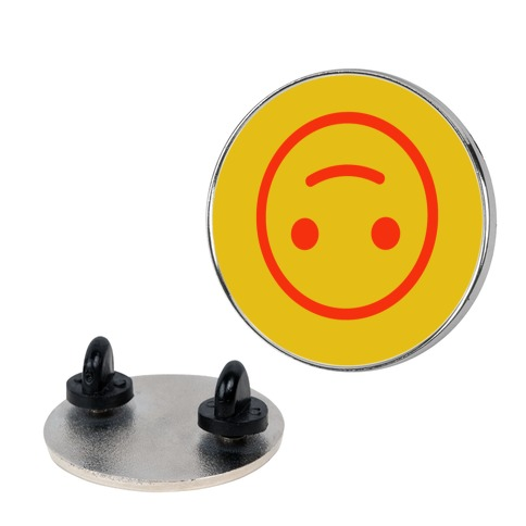Upside-down Smiley pin