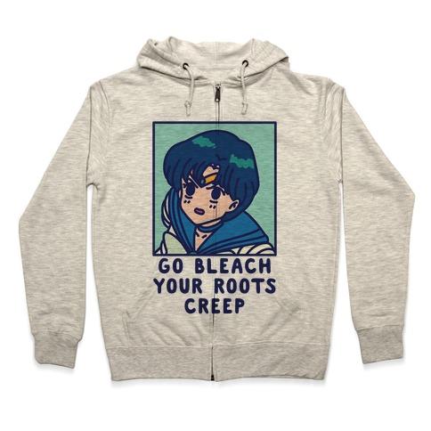 Go Bleach Your Roots Creep Sailor Mercury Zip Hoodie