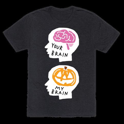 Your Brain My Brain Halloween Mens T-Shirt