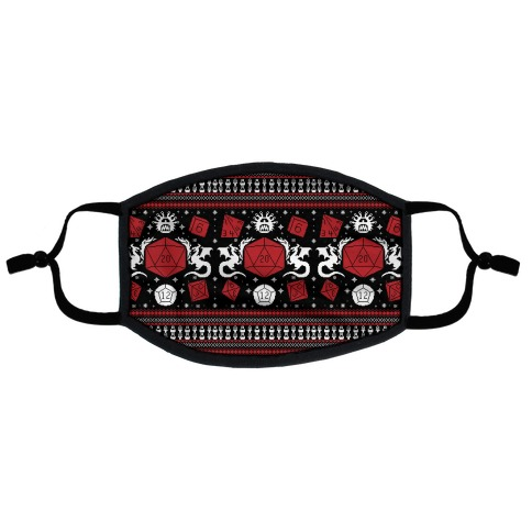D&D Ugly Sweater Flat Face Mask