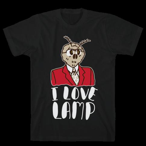 Moth Loves Lamp  Mens T-Shirt