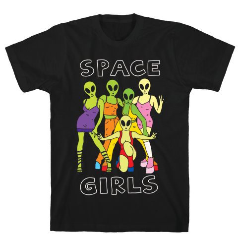 Space Girls Mens T-Shirt