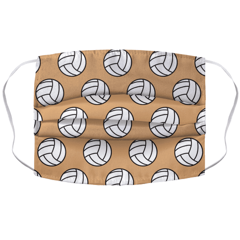 Volleyball Pattern Accordion Face Mask