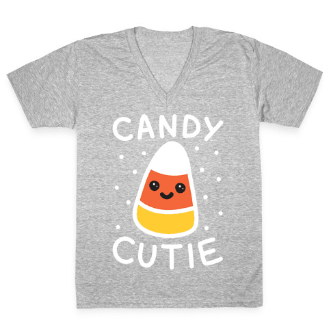 Candy Cutie Candy Corn V-Neck Tee Shirt