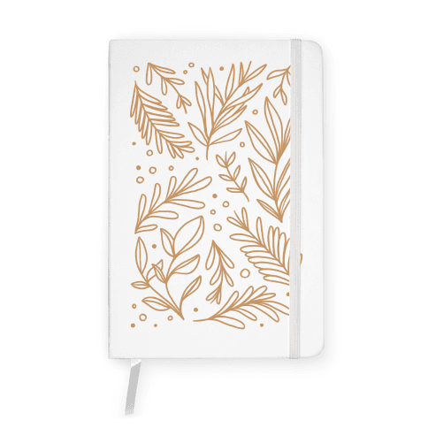 Tan Botanicals Notebook