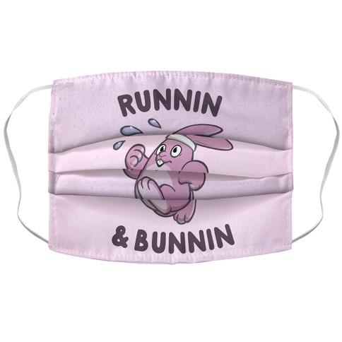 Runnin' And Bunnin' Accordion Face Mask